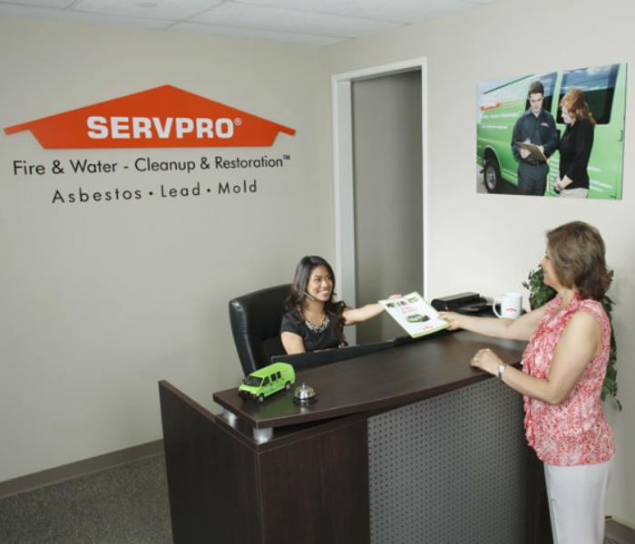 SERVPRO Reception Area: A water, fire, mold remediation and removal company in Anaheim Hills