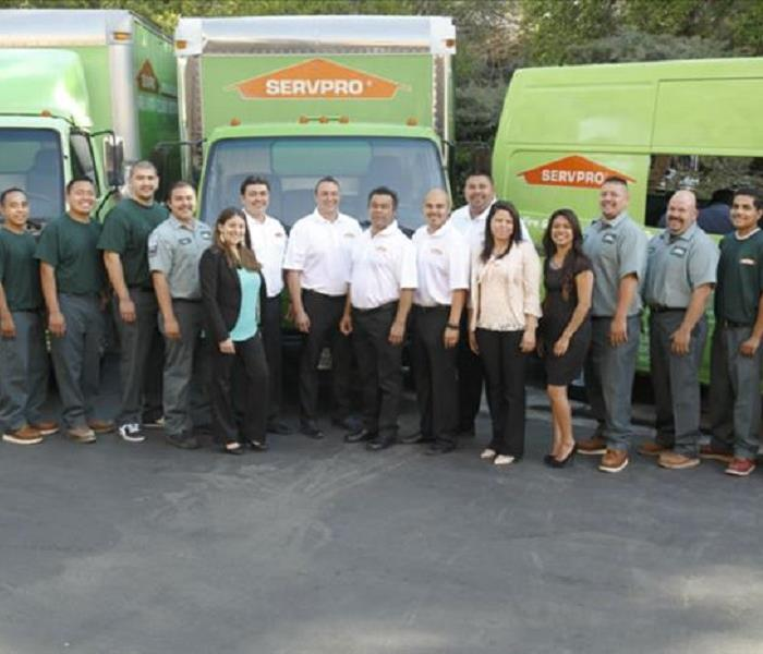 SERVPRO Team Members: A water, fire, mold remediation and removal company in Anaheim Hills
